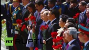 Russia: World leaders pay tribute at Tomb of the Unknown Soldier in Moscow
