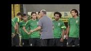 Преди финала за Купата на Конфедерациите между Бразилия и Испания