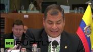 Belgium: US sanctions on Venezuela violate international law - Ecuadorian President Correa