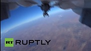 Syria: Bombs away! GoPro shows Russian jet dropping munitions on ISIS