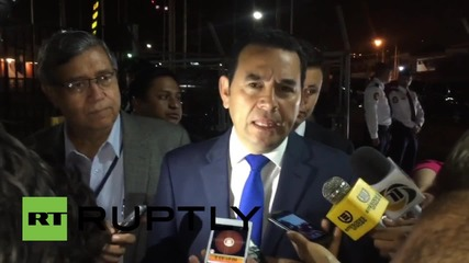 Guatemala: Jimmy Morales leads way in presidential elections