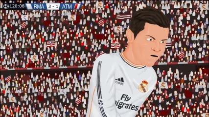 Пародия на мача Реал Мадрид и Атлетико Мадрид (шампионска Лига)
