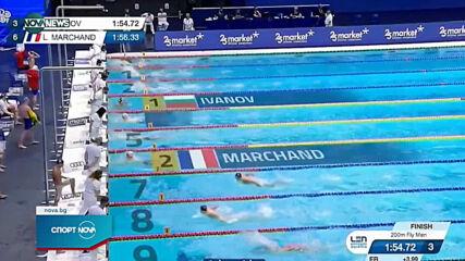 Антъни Иванов е на 1/2 финал на европейското по плуване