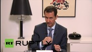 """Syria: """"Terrorism is like a scorpion, if you put it in your pocket, it will sting you"""" - Assad"""