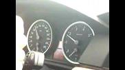 BMW E60 550i Ускорение 90 - 155 Км/ч Кикдаун
