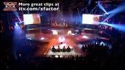 17 годишната Шер изпълнява песента на Eminem и Rihanna: Полуфинал на шоуто X Factor 12.03.2010.