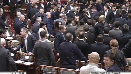 Ukraine: FIGHT breaks out at Kiev's Verkhovna Rada during parliamentary session