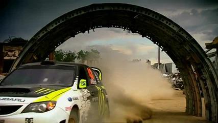 Ken Block with Gymkhana Subaru in Top Gear [ Hq ]