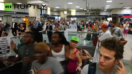 Sandra Bland Solidarity Protesters Storm NYC