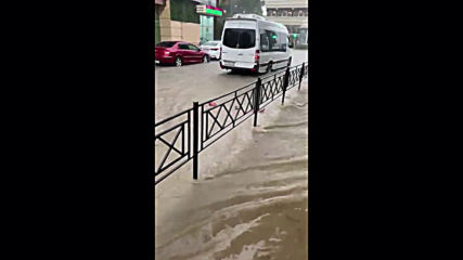 Russia: Afternoon swim in Sochi's streets after flash floods