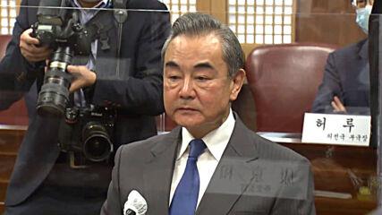 South Korea: China's Wang meets with Pres Moon and counterpart Kang