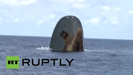 Sao Tome and Principe: Watch moment ship sinks in 'suspicious circumstances'