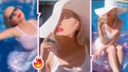 Мокра и секси: Кристина Агилера провокира със снимки в басейна