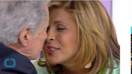 Regis Philbin Plants a Giant Kiss on Hoda Kotb's Lips Before Asking If She Has a Boyfriend