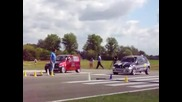 Drag Racing Renault Clio Turbo vs Fiat 500 Turbo