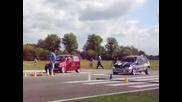 Drag Racing Renault Clio Turbo vs Fiat 500 Turbo