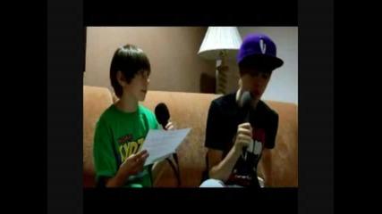 Kydz Radio Dj Robbie Q interviews Justin Bieber