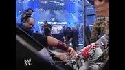 Wwe - Jeff Hardy jumps on Edge on ladder [wrestlemania 23]