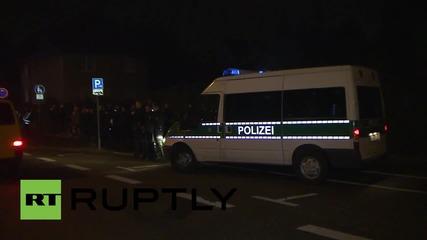 Germany: NPD rally against Merkel's refugee policies in Cottbus