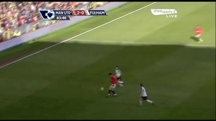 [hq]14.03 асистенция на Бербатов Манчестър Юнайтед 3:0 Фулъм Рууни гол