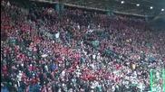невероятната агитка на Wisla !! Wisla Krakow - Widzew Lodz 04.12.2011