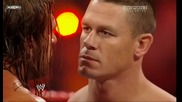 Raw 07/06/09 Triple H vs John Cena [ Night of Champions Tournament match ]*първа част*