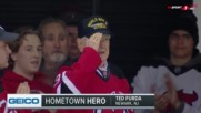 Хиляди на крака в НХЛ за над 90-годишен военен ветеран