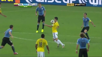 Гола на Хамес Родригес Колумбия – Уругвай World cup 2014 Colombia Uruguai goal James Rodriguez