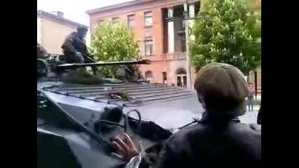 9 май Деня на победата в Мариопул под дулото на десантен танк