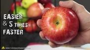 Как Бързо и лесно да нарежем ябълка и да я съхраним