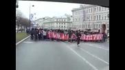 Шествие! Супер агитката на Спартак Москва в Санкт Петербург!