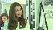 Duchess of Cambridge Graces the Set of 'Downton Abbey'