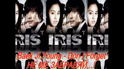 Baek Ji Young - Don t Forget - Не ме забравяй - превод