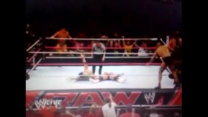 John Cena and Rhodes Brothers vs Damien Sandow and The Real Americans