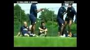 Arsenal Crossbar Challenge - Training (telefoot)