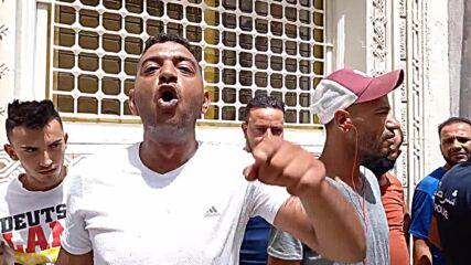 Tunisia: Anti-govt protesters rally outside Ennahda Movement headquarters
