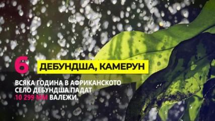 Най-дъждовните места в света