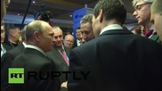 Russia: Putin mingles with fans at Valdai Discussion Club after party