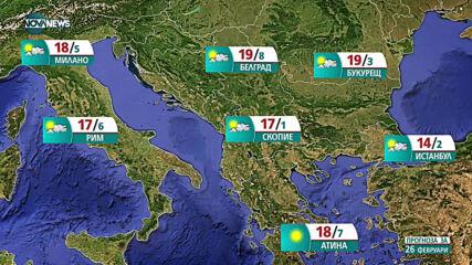 Прогноза за времето на NOVA NEWS (26.02.2021 - 15:00)