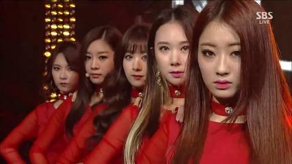 131208 Nine Muses - Glue @ Inkigayo