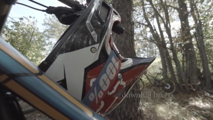 Downhill bikers-slow motion