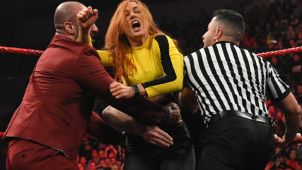 Chaos erupts during Women's Chamber Match contract signing: Raw, Feb. 24, 2020