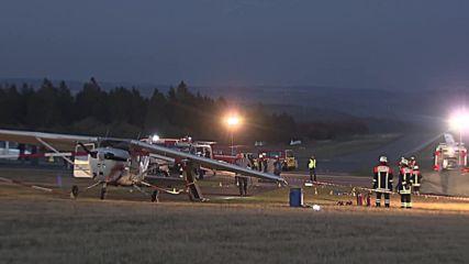 Малък самолет падна върху хора в Германия, има жертви и ранени
