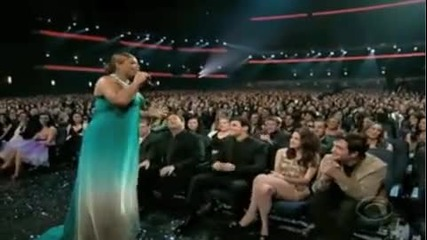 Queen Latifah chatting with Kristen, Robert, and Taylor at Peoples Choice Awards 2010