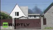 Ukraine: Black dirt rains on residents after oil depot blaze in Kalynivka