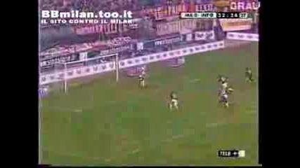 Milan - Inter - 0 - 1, Vieri