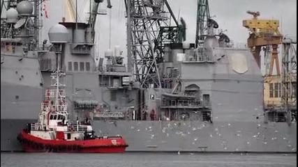 Във Варна акостира ракетен крайцер Вела Гълф