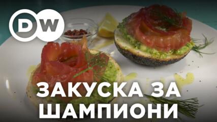 Сьомга с авокадо върху багета - австралийска вкусотийка