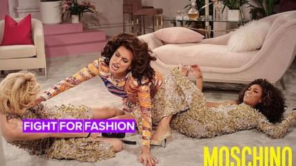 Gigi Hadid, Irina Shayk & Joan Smalls have epic catfight in Moschino ad