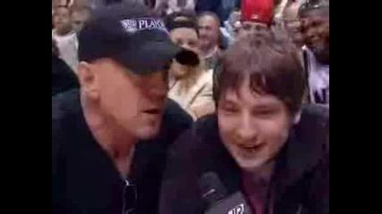 Bruce Willis Drunk At Raptors Vs Nj Nets Game